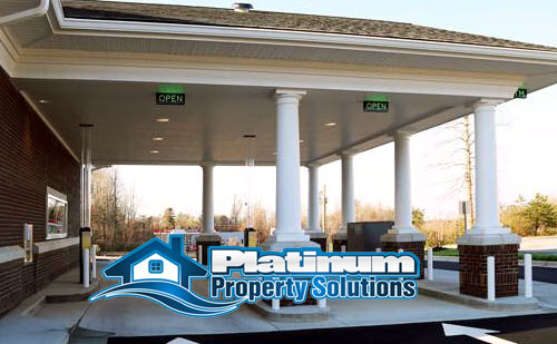 cleaning and pressure washing gas stations and drive thru lanes for commercial buildings in grand rapids, mi