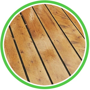 wood deck refinishing and cleaning without pressure washing to avoid damage to wood