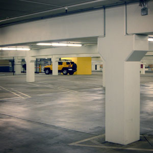 pressure washing parking garage
