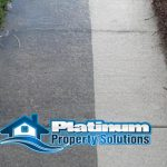 pressure wash concrete removes dirt stains and rust