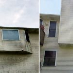 clean vinyl siding with platinum property solutions house washing service in grand rapids, mi