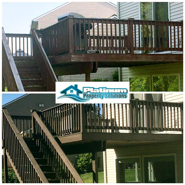 cleaning and refinishing wood deck in rockford michigan