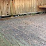 deck cleaning service in grand rapids michigan uses softwashing instead of pressure washing to refinish wood deck