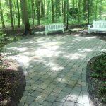 platinum property services cleans concrete pavers